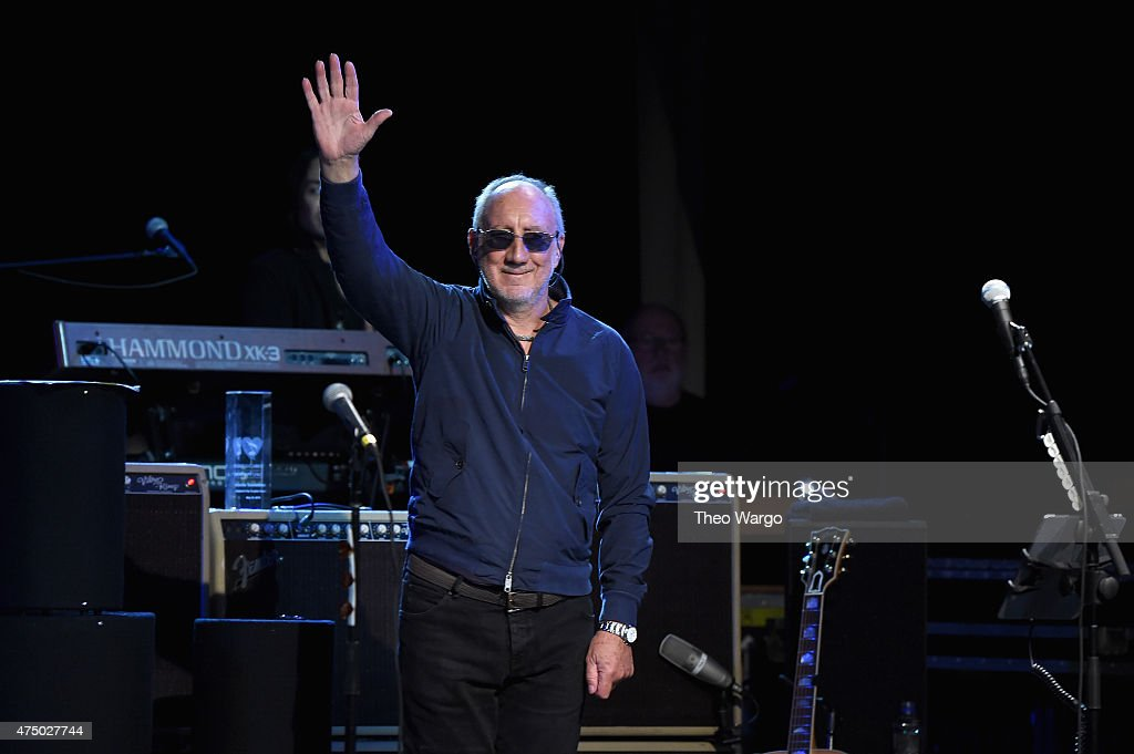 Pete Townshend performs onstage during the MusiCares MAP Fund Benefit Concert at Best Buy Theater on May 28, 2015 in New York City. All proceeds from this concert will benefit the MusiCares MAP Fund, which provides members of the music community access to addiction recovery treatment regardless of their financial situation.