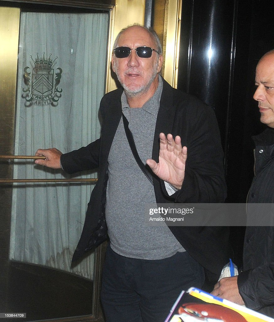 Pete Townshend sighting on October 9, 2012 in New York City.