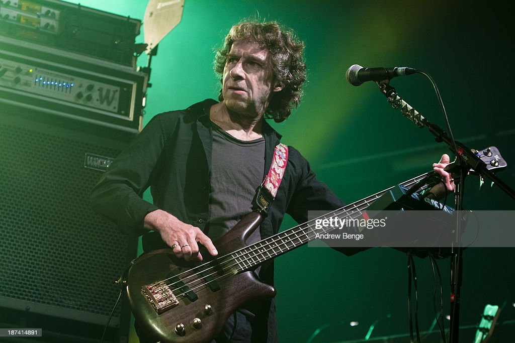 Pete Trewavas of Marillion performs on stage at Manchester Academy on November 8, 2013 in Manchester, United Kingdom.