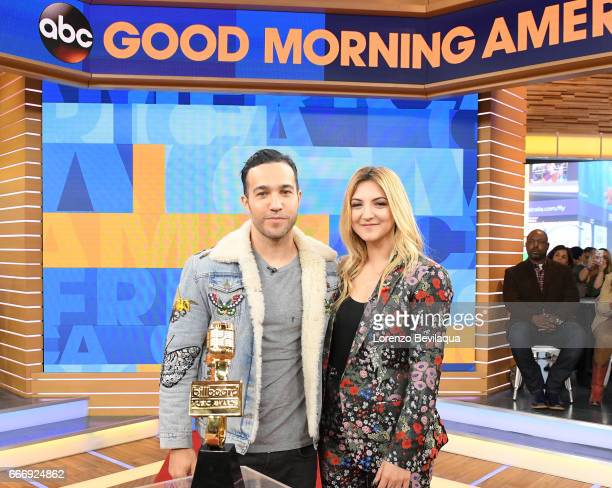 AMERICA Pete Wentz and Julia Michaels announce the nominations for the Billboard Music Awards on 'Good Morning America' Monday April 10 2017 airing...