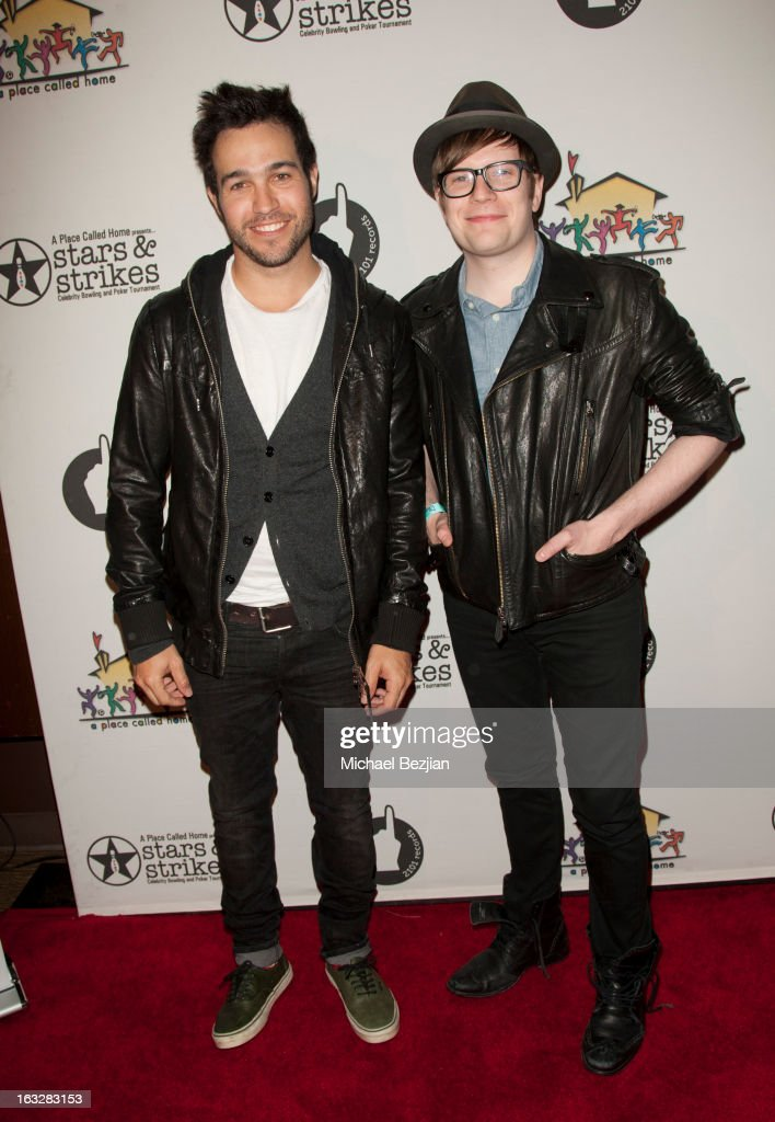Pete Wentz and Patrick Stump attend the 7th Annual 'Stars and Strikes' Celebrity Bowling And Poker Tournament Benefiting A Place Called Home at PINZ Bowling & Entertainment Center on March 6, 2013 in Studio City, California.