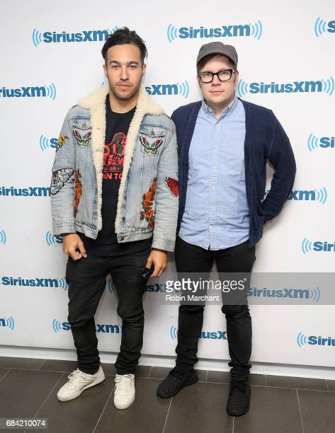 Pete Wentz and Patrick Stump of Fall Out Boy visit at SiriusXM Studios on May 17 2017 in New York City