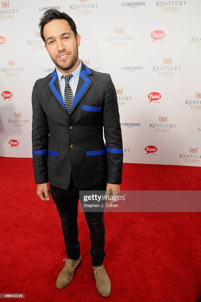 <a gi-track='captionPersonalityLinkClicked' href=/galleries/search?phrase=Pete+Wentz&family=editorial&specificpeople=595892 ng-click='$event.stopPropagation()'>Pete Wentz</a> attends 140th Kentucky Derby at Churchill Downs on May 3, 2014 in Louisville, Kentucky.