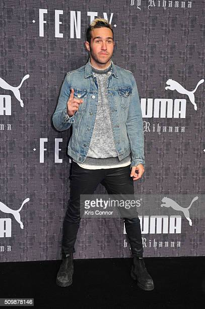 Pete Wentz attends FENTY x PUMA by Rihanna at 23 Wall Street on February 12 2016 in New York City