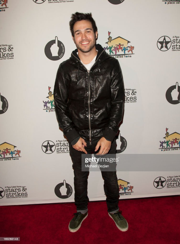 Pete Wentz attends the 7th Annual 'Stars and Strikes' Celebrity Bowling And Poker Tournament Benefiting A Place Called Home at PINZ Bowling & Entertainment Center on March 6, 2013 in Studio City, California.