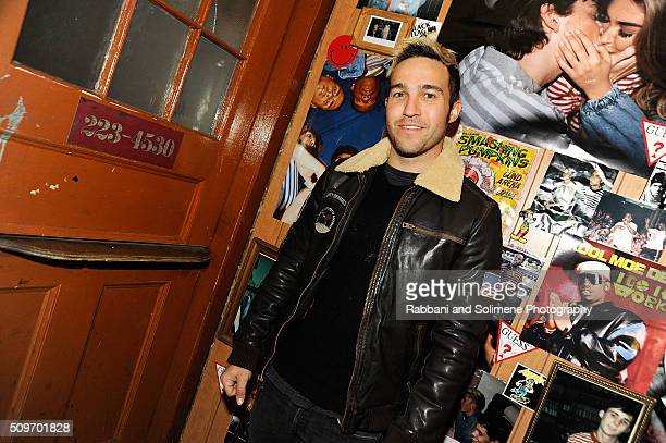 Pete Wentz attends the GUESS X A$AP Rocky Partyat The Box on February 11 2016 in New York City