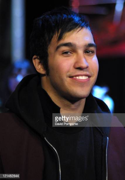 Pete Wentz of Fall Out Boy during Henry Rollins and Pete Wentz of Fall Out Boy Visit Fuse's 'Daily Download' November 23 2004 at Fuse Studios in New...