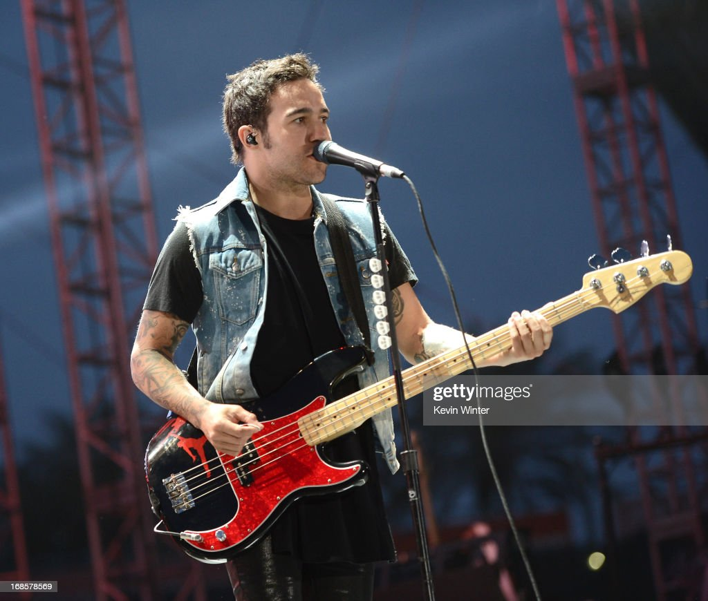 <a gi-track='captionPersonalityLinkClicked' href=/galleries/search?phrase=Pete+Wentz&family=editorial&specificpeople=595892 ng-click='$event.stopPropagation()'>Pete Wentz</a> of Fall Out Boy performs at 102.7 KIIS FM's Wango Tango 2013 held at The Home Depot Center on May 11, 2013 in Carson, California.