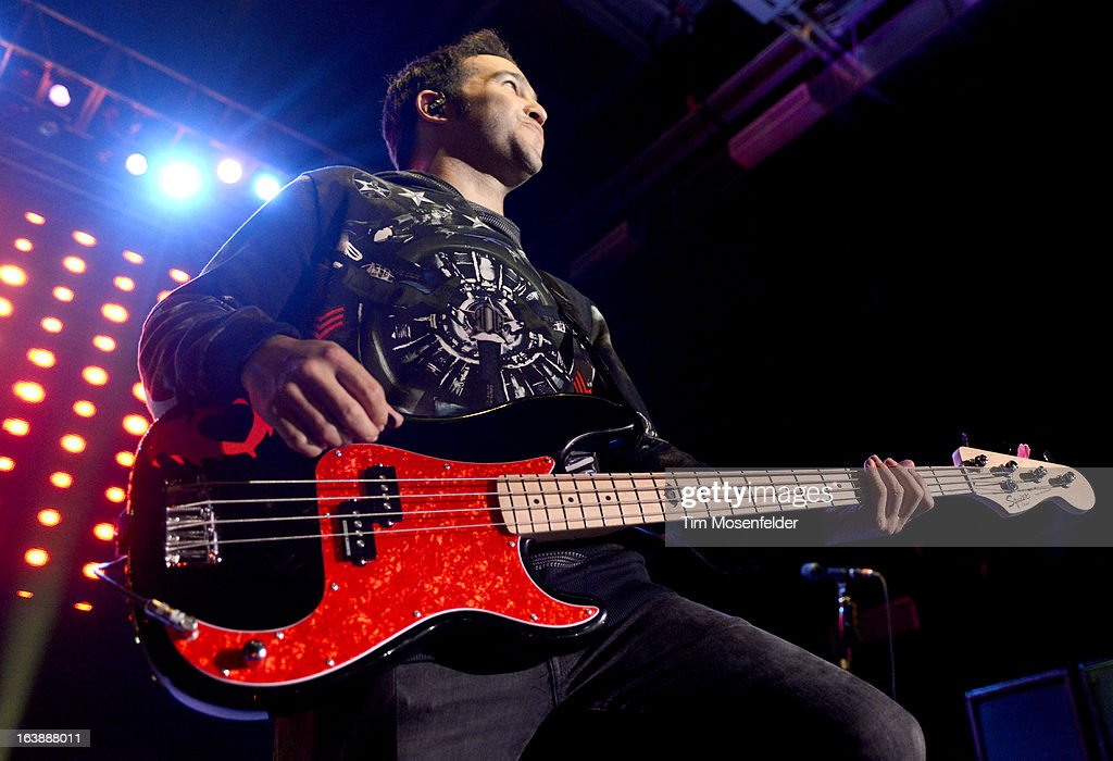 Pete Wentz of Fall Out Boy performs at Perez Hilton's One Night in Austin Party at the Austin Music Hall on March 16, 2013 in Austin, Texas.
