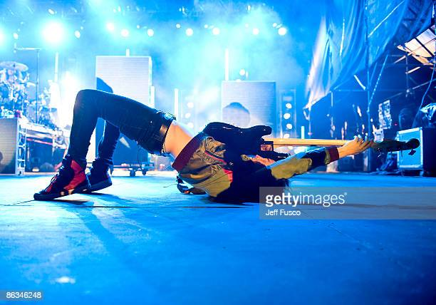 Pete Wentz of Fall Out Boy performs live in concert at the mtvU Movies and Music Festival at the Festival Pier May 1 2009 in Philadelphia Pennsylvania