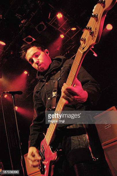Pete Wentz of Fall Out Boy performs on stage at O2 Islington Academy on November 5 2013 in London United Kingdom