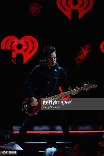 Pete Wentz of Fall Out Boy performs onstage during Z100's Jingle Ball 2013 presented by Aeropostale at Madison Square Garden on December 13 2013 in...