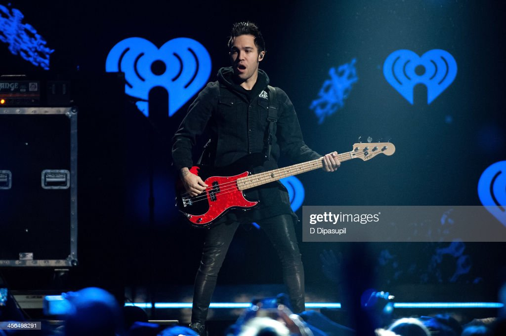 <a gi-track='captionPersonalityLinkClicked' href=/galleries/search?phrase=Pete+Wentz&family=editorial&specificpeople=595892 ng-click='$event.stopPropagation()'>Pete Wentz</a> of Fall Out Boy performs onstage during Z100's Jingle Ball 2013 at Madison Square Garden on December 13, 2013 in New York City.