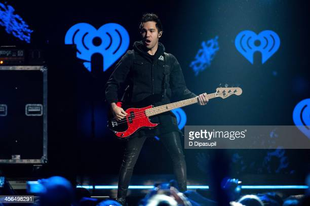 Pete Wentz of Fall Out Boy performs onstage during Z100's Jingle Ball 2013 at Madison Square Garden on December 13 2013 in New York City
