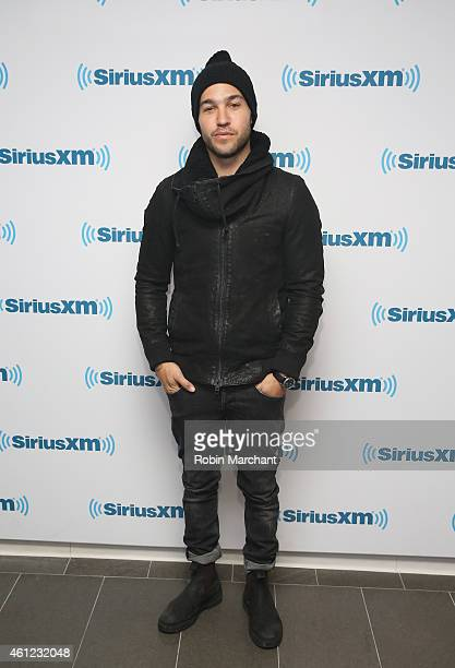 Pete Wentz of Fall Out Boy visits at SiriusXM Studios on January 9 2015 in New York City