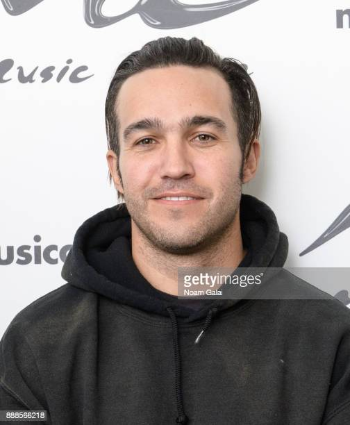 Pete Wentz of Fall Out Boy visits Music Choice on December 8 2017 in New York City