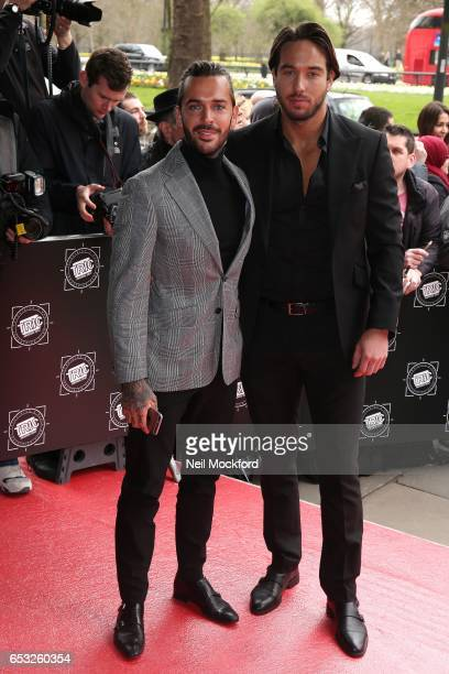 Pete Wicks and James Lock attends the TRIC Awards 2017 on March 14 2017 in London United Kingdom