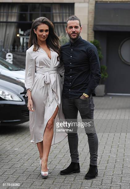 Pete Wicks and Megan Mckenna are seen on a double date with Chloe Sims and Jon Clark at the Brickyard Restaurant on March 23 2016 in Romford Essex