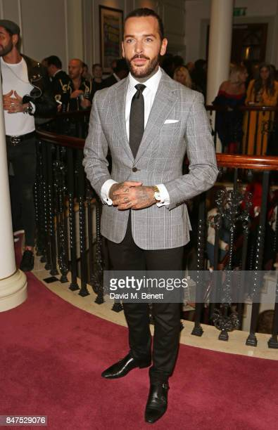 Pete Wicks attends the Joshua Kane 'Fantasy' show during London Fashion Week September 2017 at the London Palladium on September 15 2017 in London...