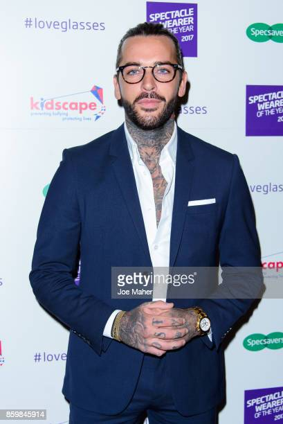 Pete Wicks during a photocall for Specsaver's Spectacle Wearer Of The Year at 8 Northumberland Avenue on October 10 2017 in London England