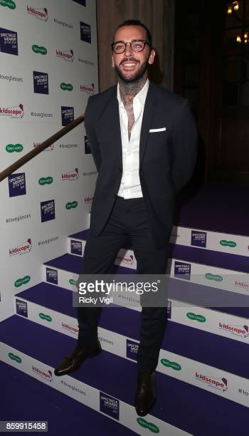 Pete Wicks seen attending Specsavers' Spectacle Wearer of the Year at 8 Northumberland Avenue on October 10 2017 in London England