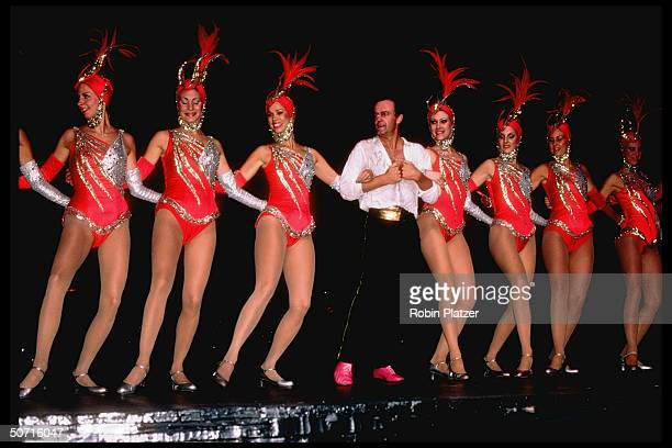 Peter Allen dancing w the Rockettes at Radio City Music Hall