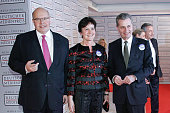 Peter Altmaier Margret Mergen and Guenther H Oettinger attend the German Media Award 2015 on January 23 2015 in BadenBaden Germany