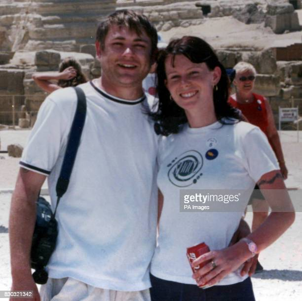 Peter and Terri Croft during a recent holiday in Egypt The couple married on Florida despite Peter collapsing in agony with back pain 7 days earlier...