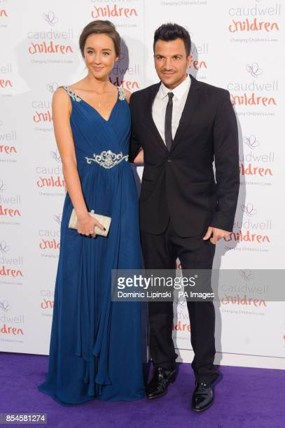 Peter Andre and Emily MacDonagh arriving at the Caudwell Children Butterfly Ball at the Grosvenor House hotel in central London