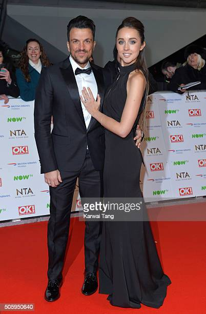 Peter Andre and Emily MacDonagh attend the 21st National Television Awards at The O2 Arena on January 20 2016 in London England
