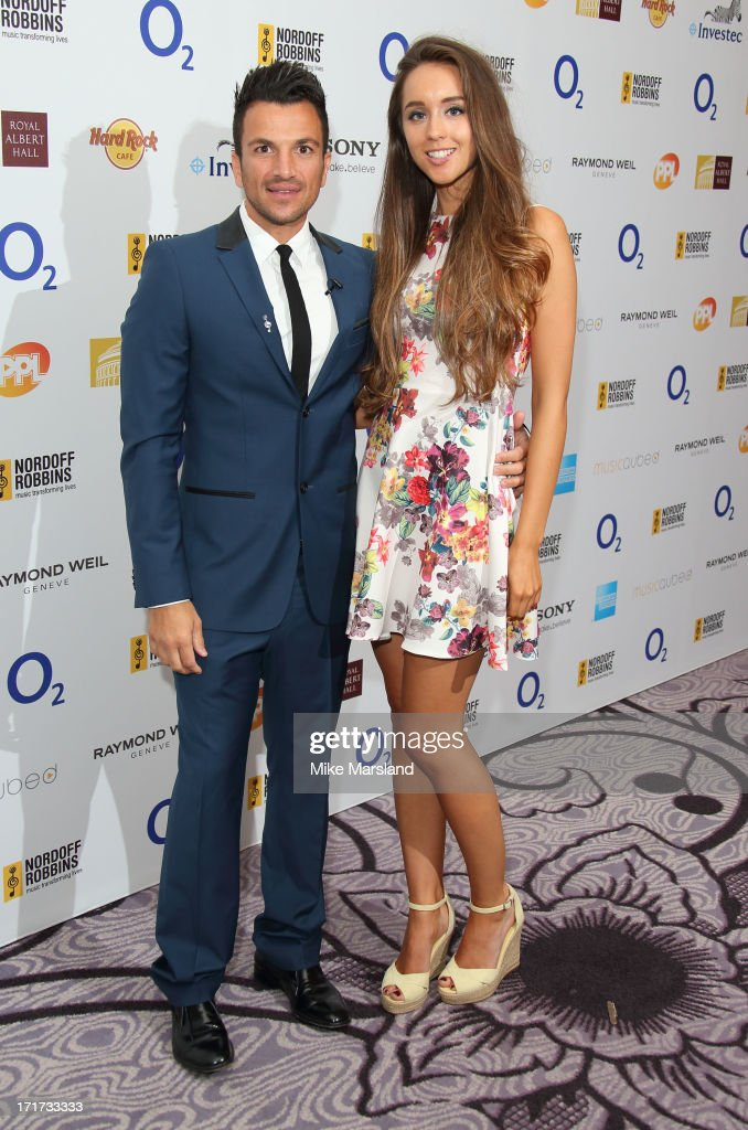<a gi-track='captionPersonalityLinkClicked' href=/galleries/search?phrase=Peter+Andre&family=editorial&specificpeople=201546 ng-click='$event.stopPropagation()'>Peter Andre</a> and Emily MacDonagh attend the Nordoff Robbins Silver Clef Awards at London Hilton on June 28, 2013 in London, England.