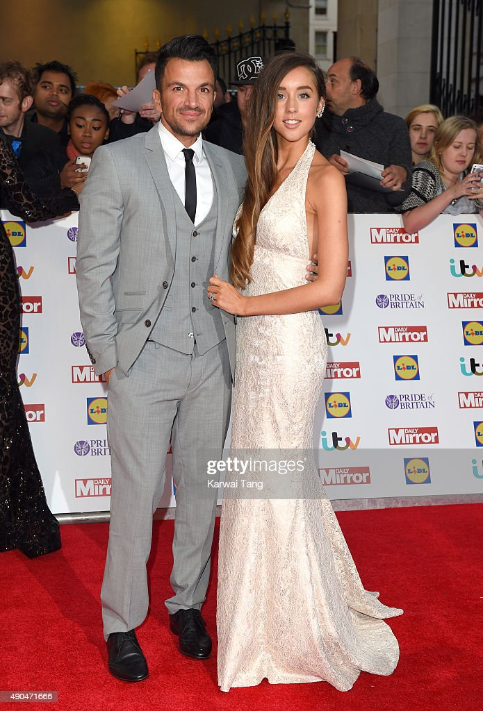 <a gi-track='captionPersonalityLinkClicked' href=/galleries/search?phrase=Peter+Andre&family=editorial&specificpeople=201546 ng-click='$event.stopPropagation()'>Peter Andre</a> and <a gi-track='captionPersonalityLinkClicked' href=/galleries/search?phrase=Emily+MacDonagh&family=editorial&specificpeople=9555202 ng-click='$event.stopPropagation()'>Emily MacDonagh</a> attend the Pride of Britain awards at The Grosvenor House Hotel on September 28, 2015 in London, England.
