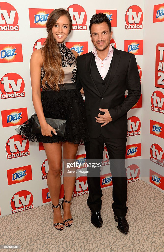 Peter Andre and Emily MacDonagh attend the TV Choice Awards 2013 at The Dorchester on September 9, 2013 in London, England.