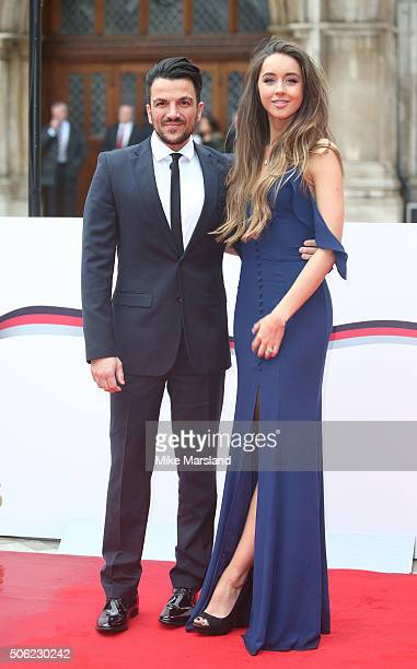 Peter Andre and Emily MacDonagh attends The Sun Military Awards at The Guildhall on January 22 2016 in London England
