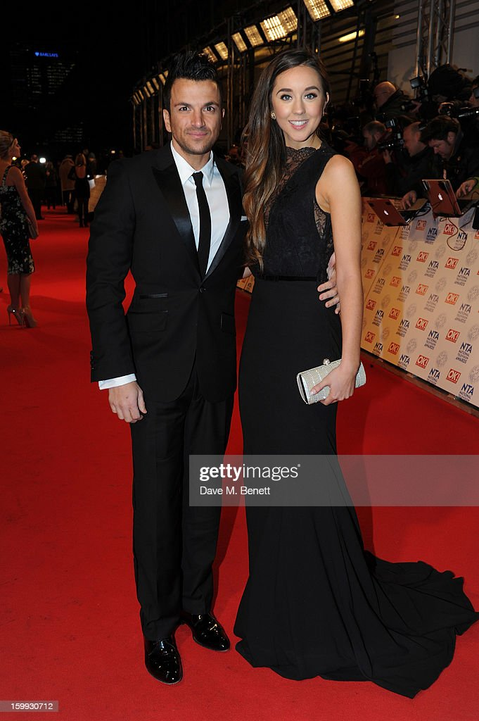<a gi-track='captionPersonalityLinkClicked' href=/galleries/search?phrase=Peter+Andre&family=editorial&specificpeople=201546 ng-click='$event.stopPropagation()'>Peter Andre</a> and Emily MacDonagh attends the the National Television Awards at 02 Arena on January 23, 2013 in London, England.