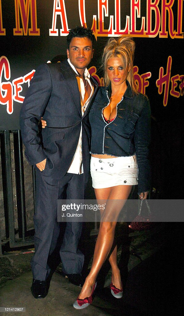 Peter Andre and Jordan during 'I'm A CelebrityGet Me Out Of Here' Third Anniversary Party at Delfina Gallery in London Great Britain