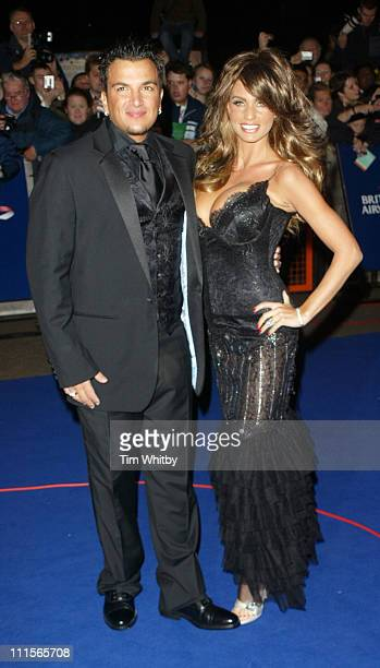 Peter Andre and Katie Price aka Jordan during National Television Awards 2005 Arrivals at Royal Albert Hall in London Great Britain