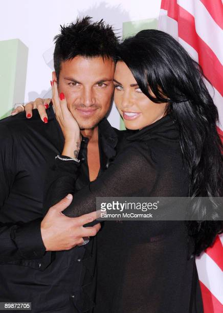 Peter Andre and Katie Price pose at the 'Katie And Peter The Next Chapter Stateside' photocall at the Soho Hotel on April 14 2009 in London England