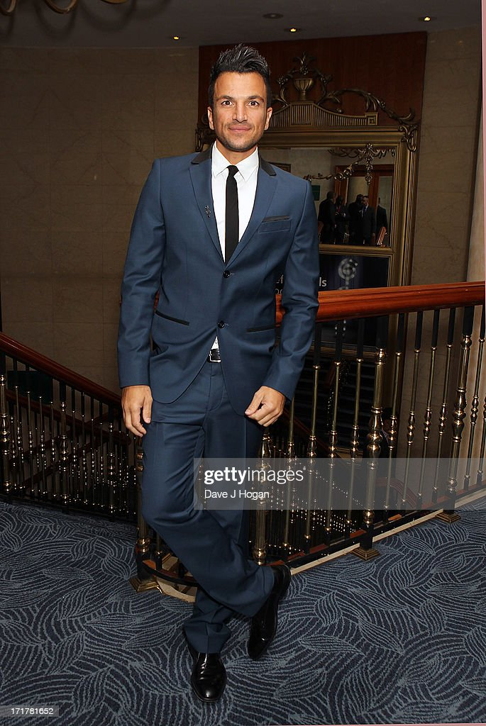 <a gi-track='captionPersonalityLinkClicked' href=/galleries/search?phrase=Peter+Andre&family=editorial&specificpeople=201546 ng-click='$event.stopPropagation()'>Peter Andre</a> attending the Nordoff Robbins Silver Clef Awards at London Hilton on June 28, 2013 in London, England.
