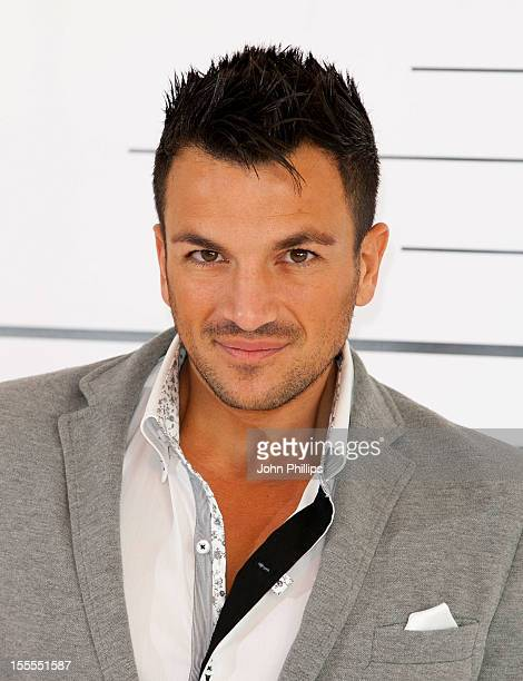 Peter Andre attends a photocall to launch his menswear collection 'alpha' at The Worx on November 5 2012 in London England