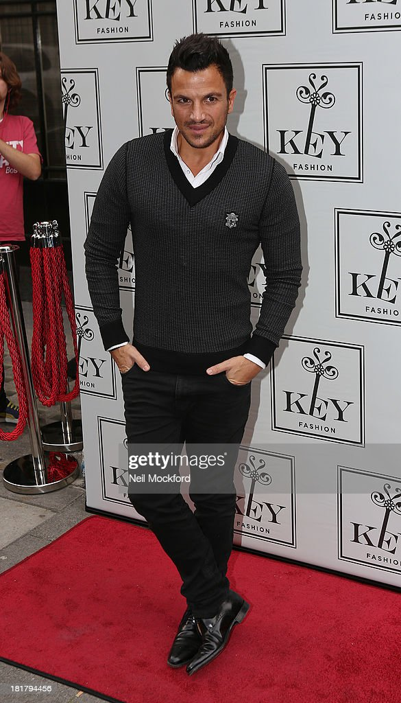 Peter Andre attends a photocall to launch the KEY Fashion brand at Vanilla on September 25, 2013 in London, England.