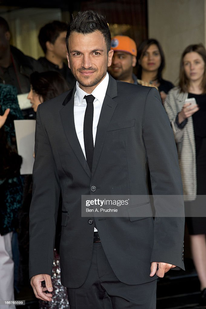 Peter Andre attends The Asian Awards at Grosvenor House, on April 16, 2013 in London, England.