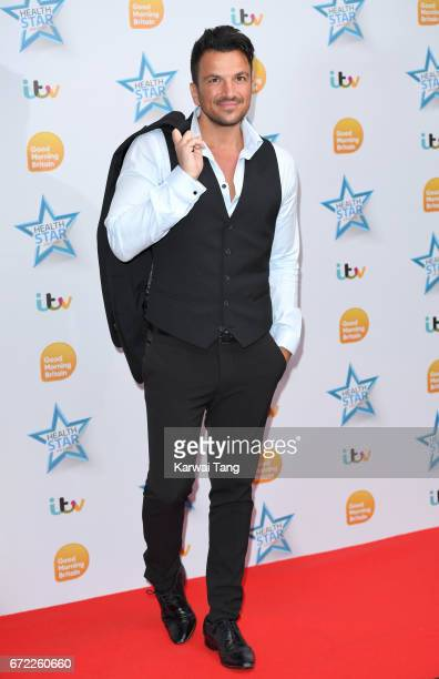 Peter Andre attends the Good Morning Britain Health Star Awards at the Rosewood Hotel on April 24 2017 in London United Kingdom