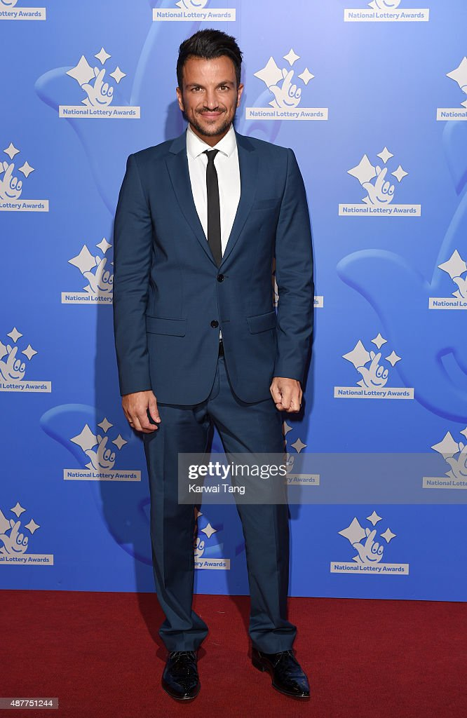 <a gi-track='captionPersonalityLinkClicked' href=/galleries/search?phrase=Peter+Andre&family=editorial&specificpeople=201546 ng-click='$event.stopPropagation()'>Peter Andre</a> attends the National Lottery Awards at The London Television Centre on September 11, 2015 in London, England.