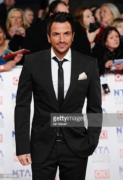 Peter Andre attends the National Television Awards 2012 at the 02 Arena on January 25 2012 in London England