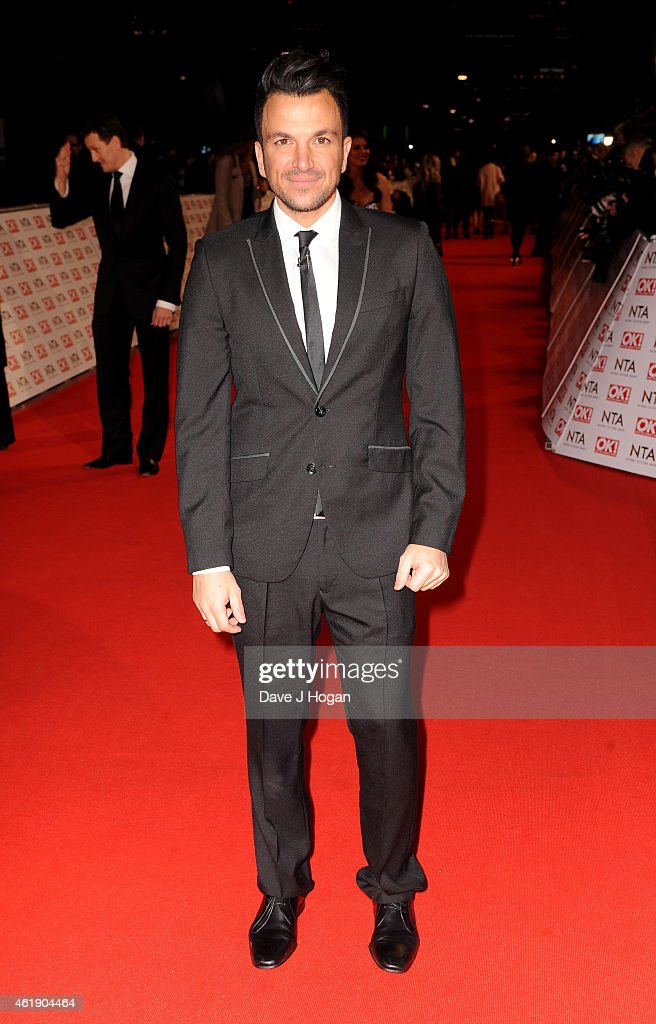 <a gi-track='captionPersonalityLinkClicked' href=/galleries/search?phrase=Peter+Andre&family=editorial&specificpeople=201546 ng-click='$event.stopPropagation()'>Peter Andre</a> attends the National Television Awards at 02 Arena on January 21, 2015 in London, England.