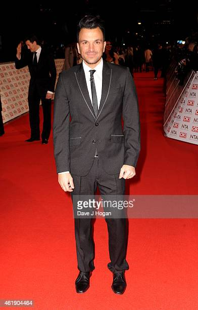Peter Andre attends the National Television Awards at 02 Arena on January 21 2015 in London England