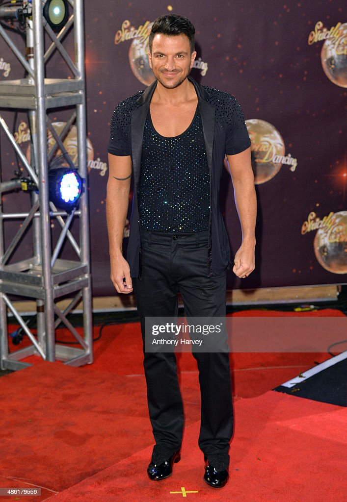 <a gi-track='captionPersonalityLinkClicked' href=/galleries/search?phrase=Peter+Andre&family=editorial&specificpeople=201546 ng-click='$event.stopPropagation()'>Peter Andre</a> attends the red carpet launch of 'Strictly Come Dancing 2015' at Elstree Studios on September 1, 2015 in Borehamwood, England.