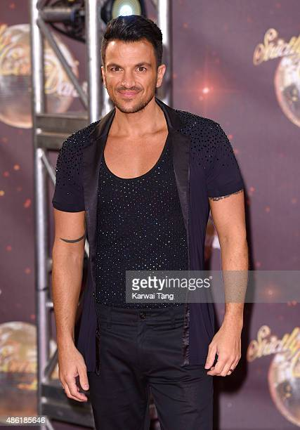 Peter Andre attends the red carpet launch of 'Strictly Come Dancing 2015' at Elstree Studios on September 1 2015 in Borehamwood England
