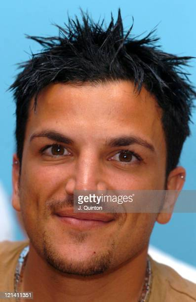 Peter Andre during Peter Andre Donates Over 200000 Pounds To The NSPCC on Behalf Of The Full Stop Campaign at Tower Hamlets Young Peoples Center in...